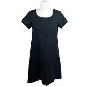 Garnet Hill 02 Linen Dress Short Sleeve Black